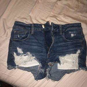 Anerican eagle stretchy distressed denim shorts